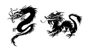 Document van een Draak China wordt verwijderd dat Royalty-vrije Stock Foto's