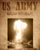 Document van een kernexplosie Stock Afbeeldingen