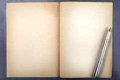 Document van oud boek Stock Fotografie