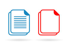 Document vector icon Royalty Free Stock Images