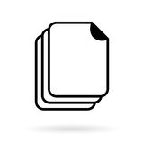 Document vector icon Stock Images