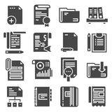 Document vector icons set on white background. Vector document vector icons set on white background Stock Photography