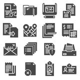 Document vector icons set on white background. Vector document vector icons set on white background Royalty Free Stock Photos