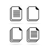 Document vector web icon. Documents vector web icons set Royalty Free Stock Image
