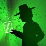 Document virtuel d'espion Photo libre de droits