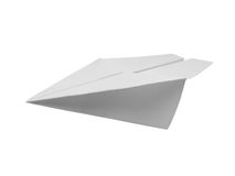 Document vliegtuig Royalty-vrije Stock Afbeelding