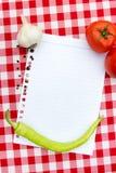 Document voor recepten Stock Foto