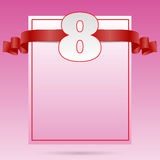 Document Vrouw dag 8 maart-kaart eps 10 Royalty-vrije Stock Foto's