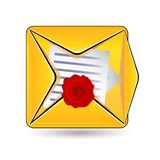 Document and wax icon Royalty Free Stock Photo