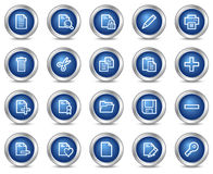 Document web icons Stock Photos