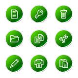 Document web icons Royalty Free Stock Images
