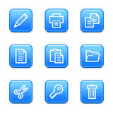 Document web icons Stock Photography