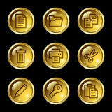 Document web icons Stock Images