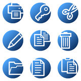 Document web icons Stock Photo