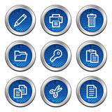 Document web icons Royalty Free Stock Photography