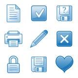 Document web icons Stock Image