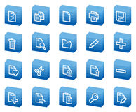 Document web icons, blue box series Royalty Free Stock Photography