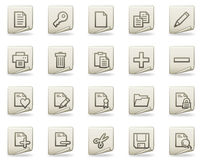 Document web icons, document series Royalty Free Stock Photos