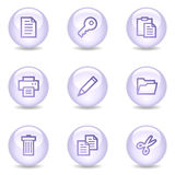 Document web icons, glossy pearl series Stock Photo