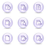 Document web icons, glossy pearl series set 2. Vector web icons, glossy pearl series Stock Image