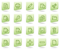 Document web icons, green document series. Vector web icons set. Easy to edit, scale and colorize Stock Image