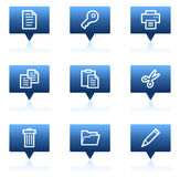 Document web icons set 1, blue speech bubbles Stock Images