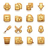 Document web icons, set 1. Brown series. Stock Photos