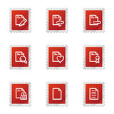 Document web icons set 2. Vector web icons, red stamp series Stock Images