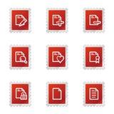 Document web icons set 2 Stock Images