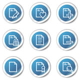 Document web icons set 2, blue sticker series Stock Image