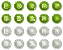 Document web icons set 2, circle buttons Royalty Free Stock Photography