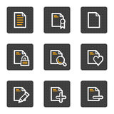 Document web icons set 2, grey buttons series Stock Images