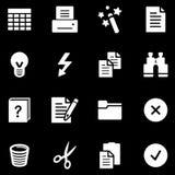 Document white web icons Stock Photo