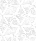 Document witte pointy gestreepte klaver Royalty-vrije Stock Fotografie