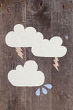 Document wolken stock illustratie