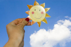 Document Zon, The Sun in de Hemel Stock Foto