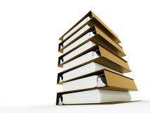 Documenta o livro do dobrador rendido ilustração stock