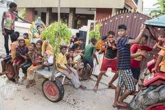 Documentair beeld redactie Tempelfestival India Royalty-vrije Stock Afbeelding
