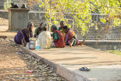 Documentary editorial image,Poverty in the street India Royalty Free Stock Photos