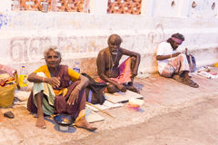 Documentary editorial image,Poverty in the street India Royalty Free Stock Image