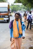 Documentary editorial image. Unidentified christians, catholics people walk from Chennai, Madras to Velanganni, Velankanni for pil Royalty Free Stock Photography