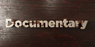 Documentary - grungy wooden headline on Maple  - 3D rendered royalty free stock image Royalty Free Stock Photo