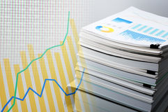 Documentation and data analysis. Business concept. Stock Photos