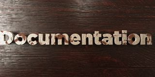 Documentation - grungy wooden headline on Maple  - 3D rendered royalty free stock image Royalty Free Stock Images