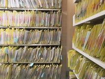 Documentcontrolekamer in het ziekenhuis voor belangrijke documenten stock afbeelding