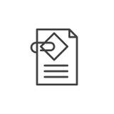 Documente a linha ícone do acessório, sinal do vetor do esboço ilustração do vetor