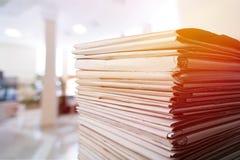 Documenten royalty-vrije stock afbeelding