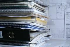 Documenten in bureau Royalty-vrije Stock Foto's