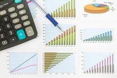 Documenten grafieken succesvolle zaken Royalty-vrije Stock Afbeelding