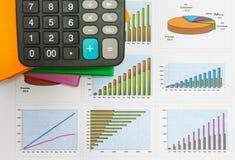 Documenten grafieken van succesvolle zaken Royalty-vrije Stock Fotografie